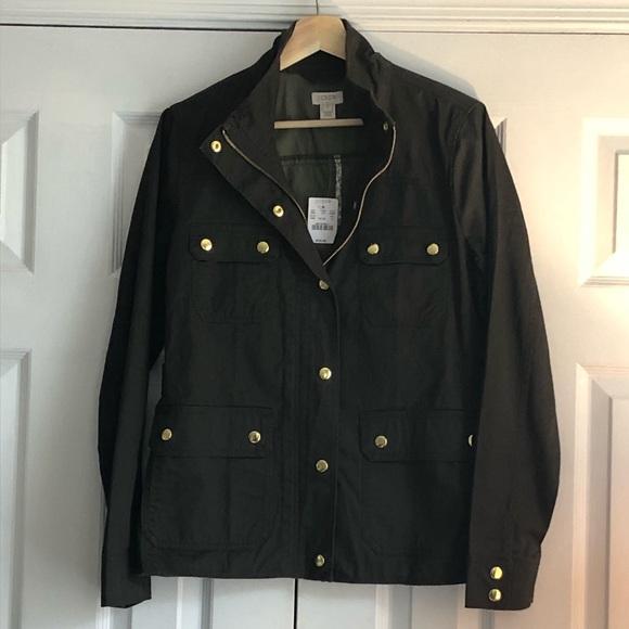 Crew Womens Resin-Coated Twill Jacket Multiple Sizes J